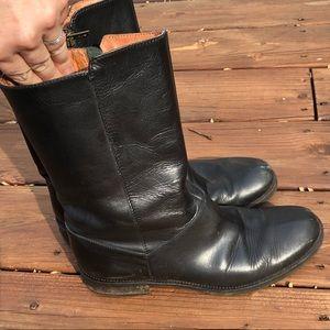 J.Crew Black Genuine Leather Boots Mid-Calf Size 9